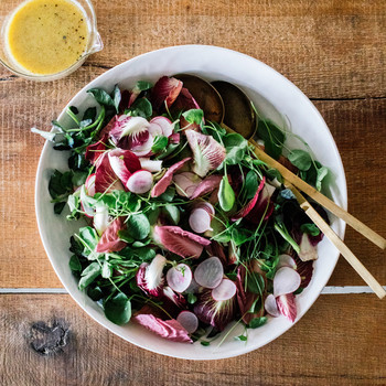 watercress radicchio and radish salad
