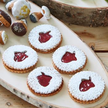 acorn linzer cookies
