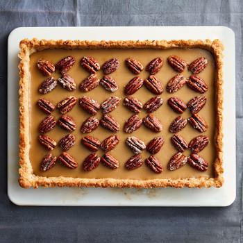 butterscotch pie with pecan shortbread crust