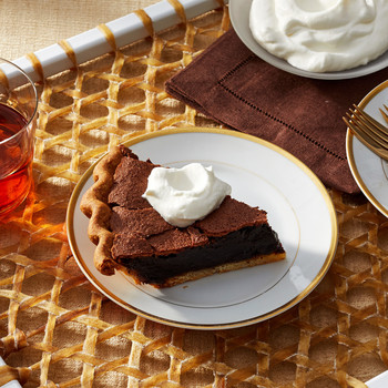 chocolate chess pie martha bakes