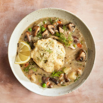 mushroom and dill chicken and dumplings