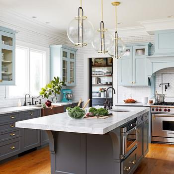 kitchen makeover with modern design island