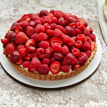 red fruit tart martha bakes raspberries