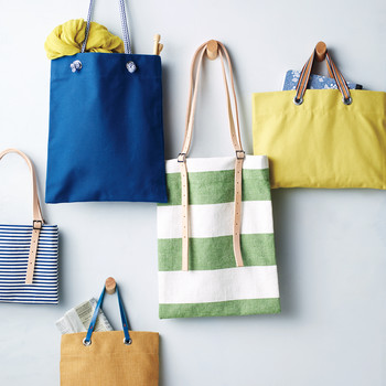 Buckle and Grommet Tote Bags