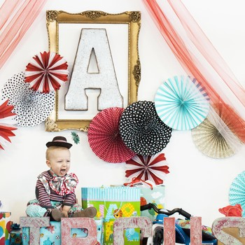 vintage circus kids birthday party backdrop