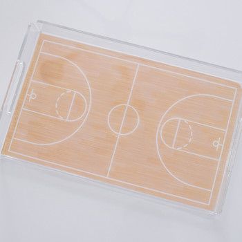 march madness basketball court serving tray final product