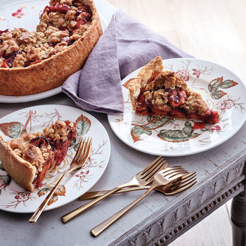 Deep-Dish Dried-Apple and Cranberry Pie