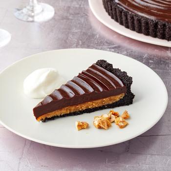 chocolate peanut butter tart martha bakes
