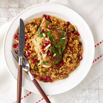 mixed grain pilaf with chicken
