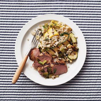 Pork Tenderloin with Summer-Squash Couscous