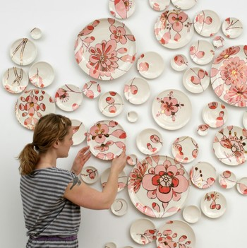 This Ceramicist Makes Breathtaking Wall-Art Out of Painted Plates