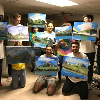 Everyone's Talking About This Bob Ross-Themed Birthday Party
