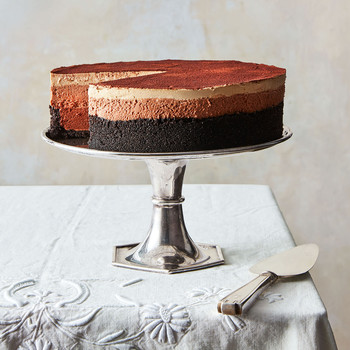 mile high triple chocolate espresso mousse pie