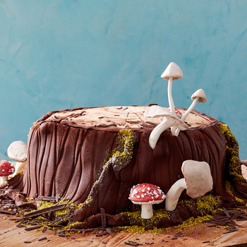 woodland stump cake adorned martha bakes