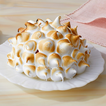 almond daquoise bomb martha bakes meringue white plate