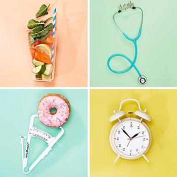 smoothie glass stethoscope donut alarm clock