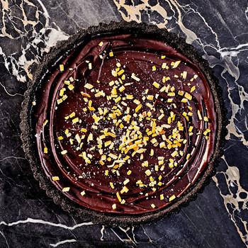 Candied-Orange Chocolate-Caramel Tart recipe