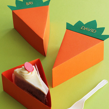 carrot cake party favor boxes
