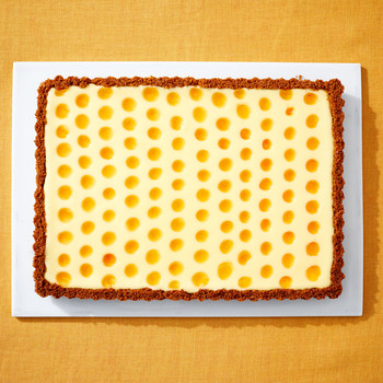 apricot cheesecake tart martha bakes patterned