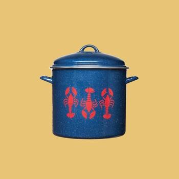 Martha Stewart Enamel Pot with Lobster Motif