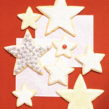 basic sugar cookies stars
