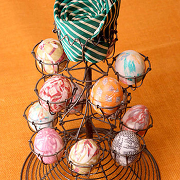 silk-tie dyed easter eggs