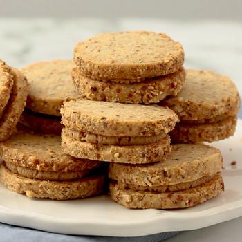 Watch: Almond-Shortbread Sandwich Cookies