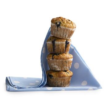 Banana-Blueberry Cornmeal Muffins