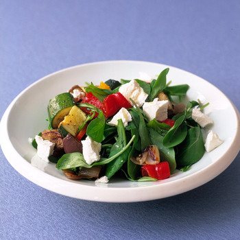 Roasted Vegetables with Goat Cheese