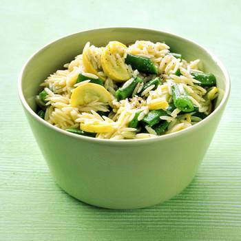 Orzo and Snap Pea Salad