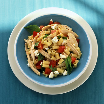 Pasta with Chicken, Tomato, and Feta