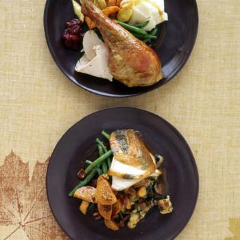 Roast Turkey With Sage and Mushroom Stuffing