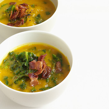 Acorn Squash Soup with Kale
