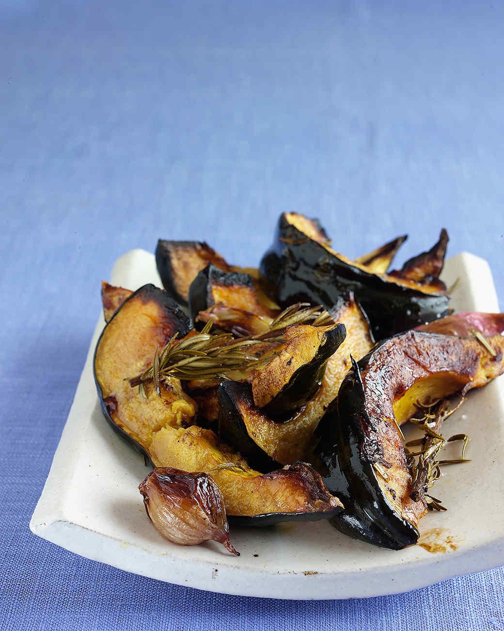 Roasted Acorn Squash, Shallots, and Rosemary Recipe | Martha Stewart