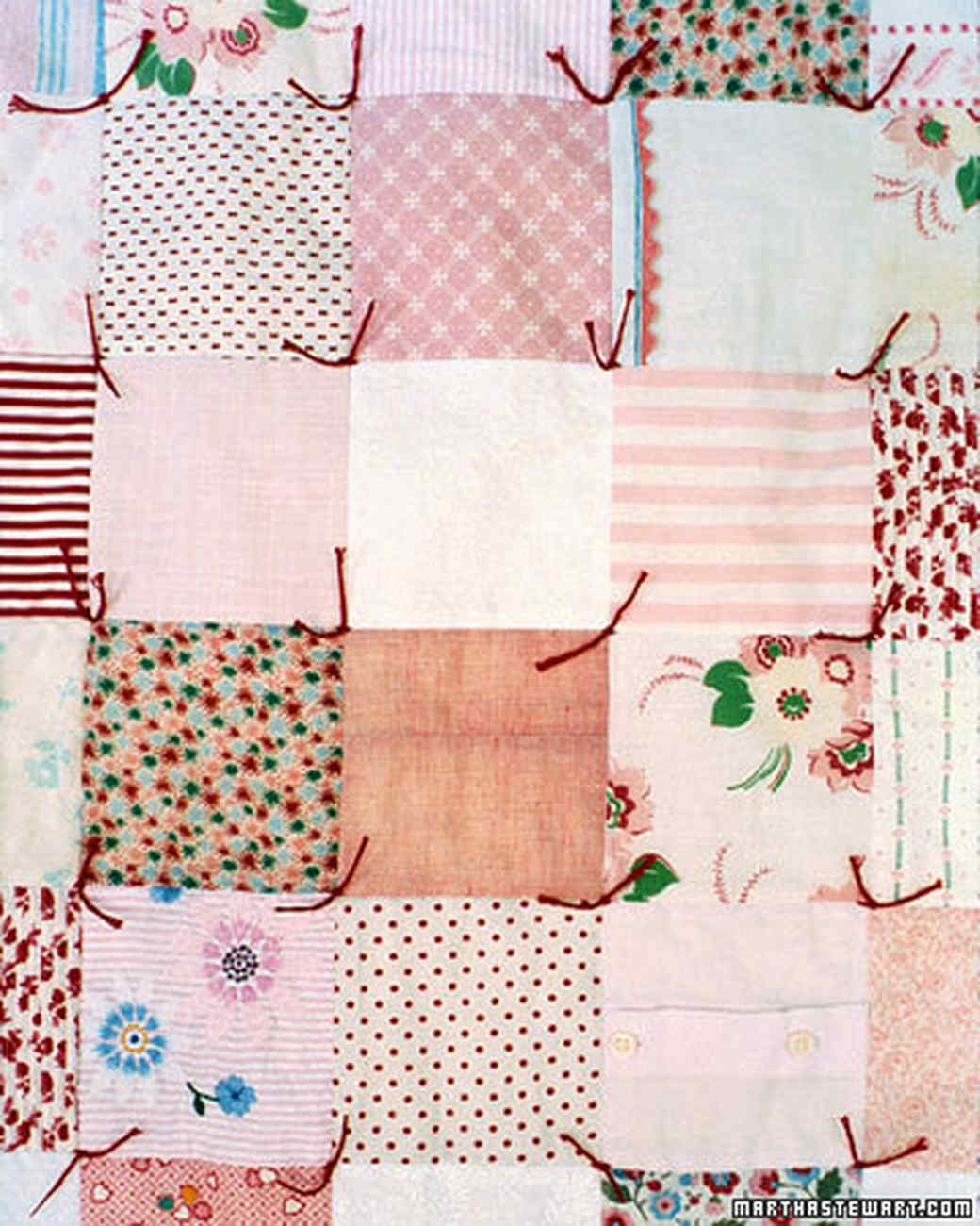 Memory quilt martha stewart for How to make a quilt template