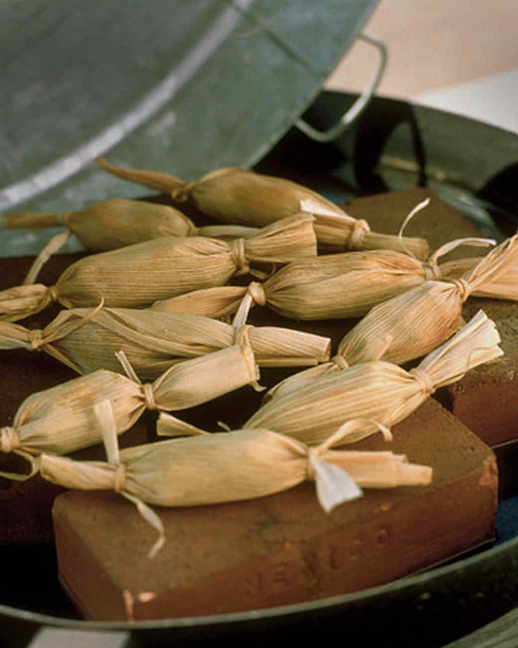 Pulled Chicken and Corn Tamales