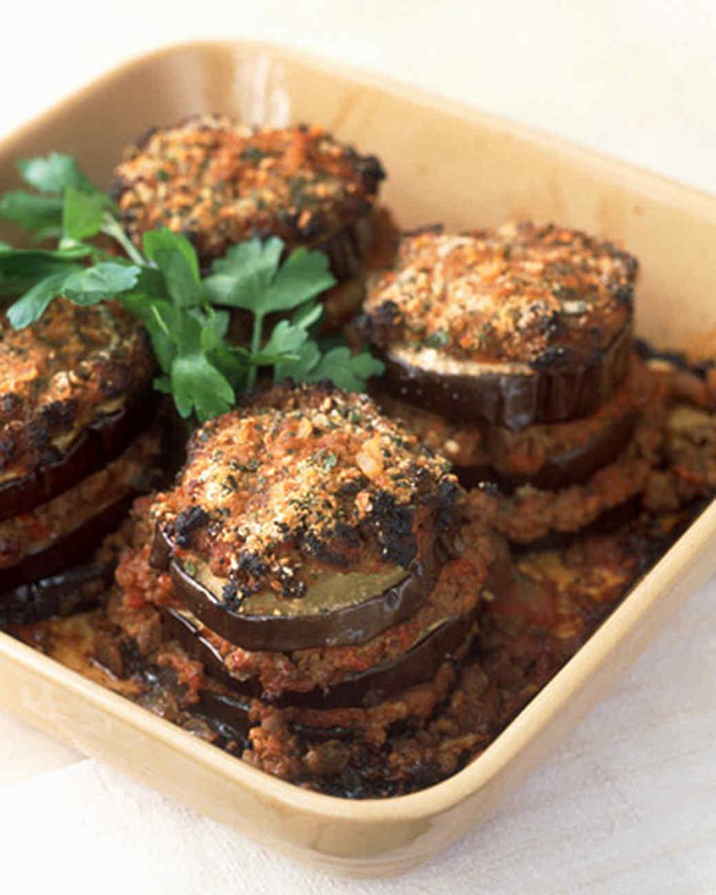 Eggplant and Lamb al Forno