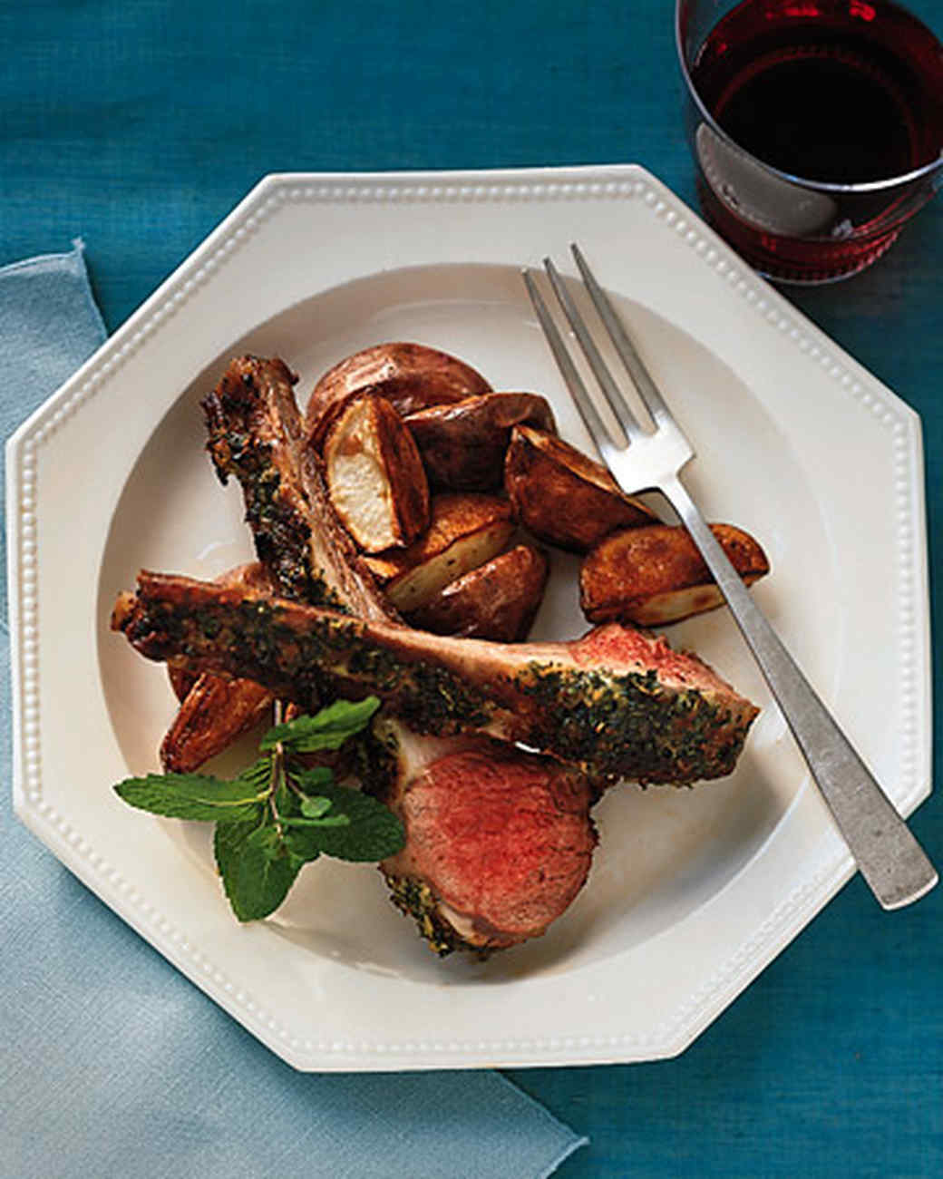 Roast Rack of Lamb with Mint