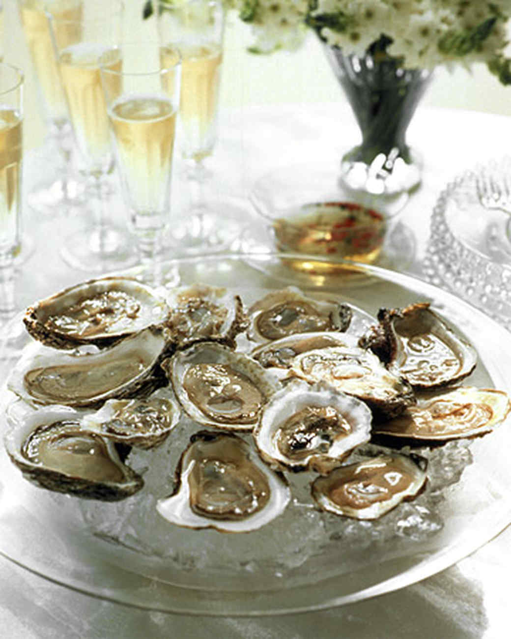 Oysters with Festive Mignonette