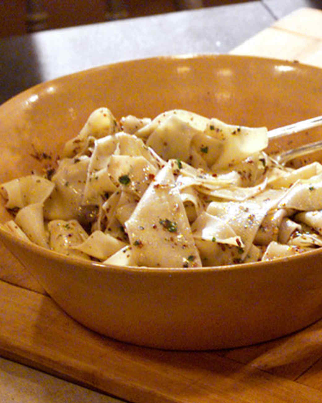 Pappardelle Pasta with Olives, Thyme, and Lemon