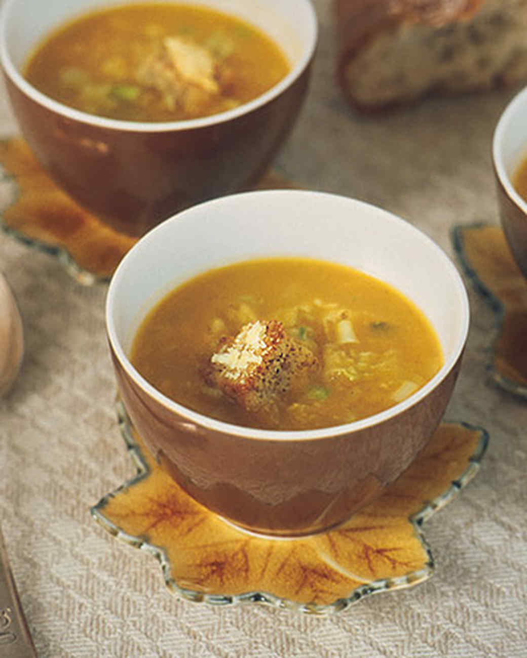 Watch Butternut Squash Soup with Herb Croutons Recipe video