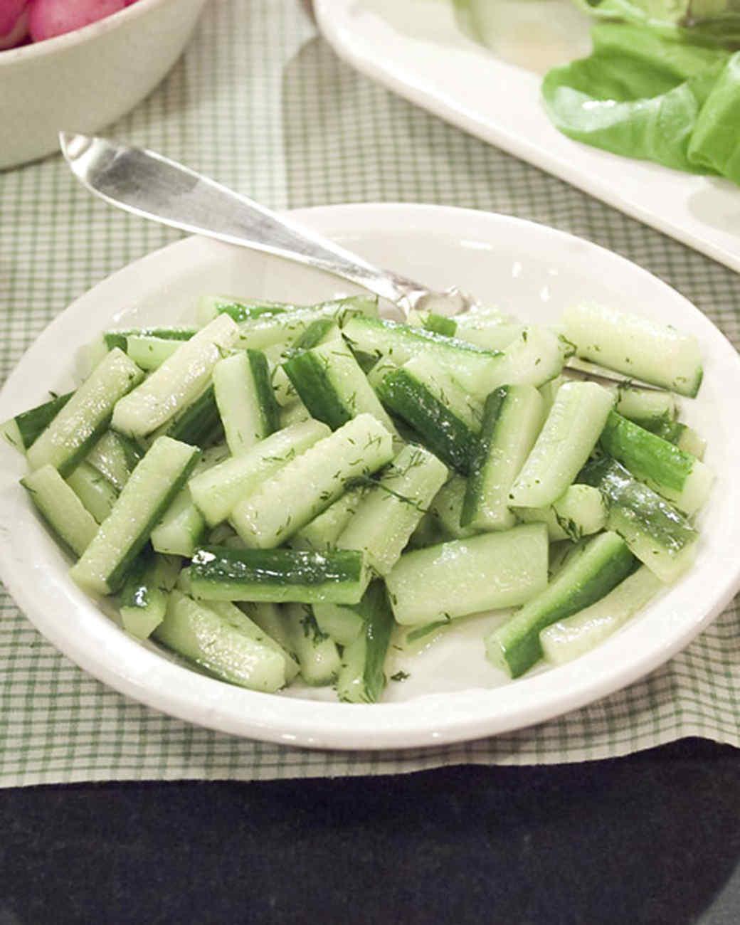 Sauteed Cucumbers with Green Herbs