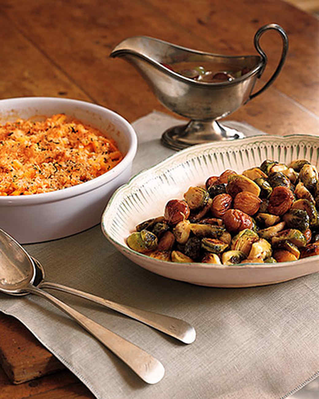 Caramelized Chestnuts and Brussels Sprouts