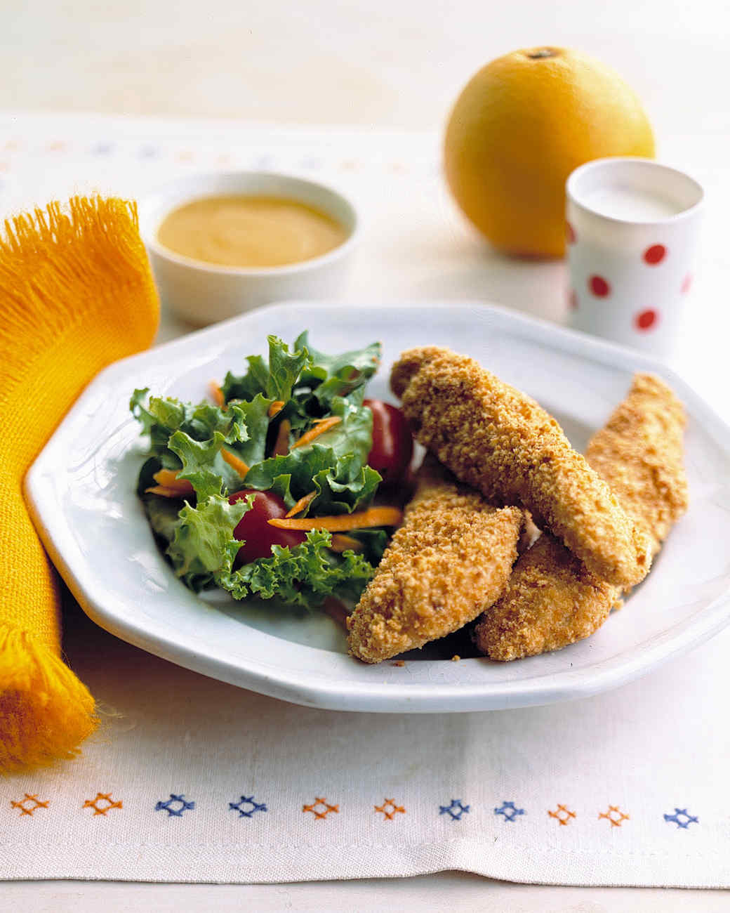 Chicken Fingers with Orange Dipping Sauce