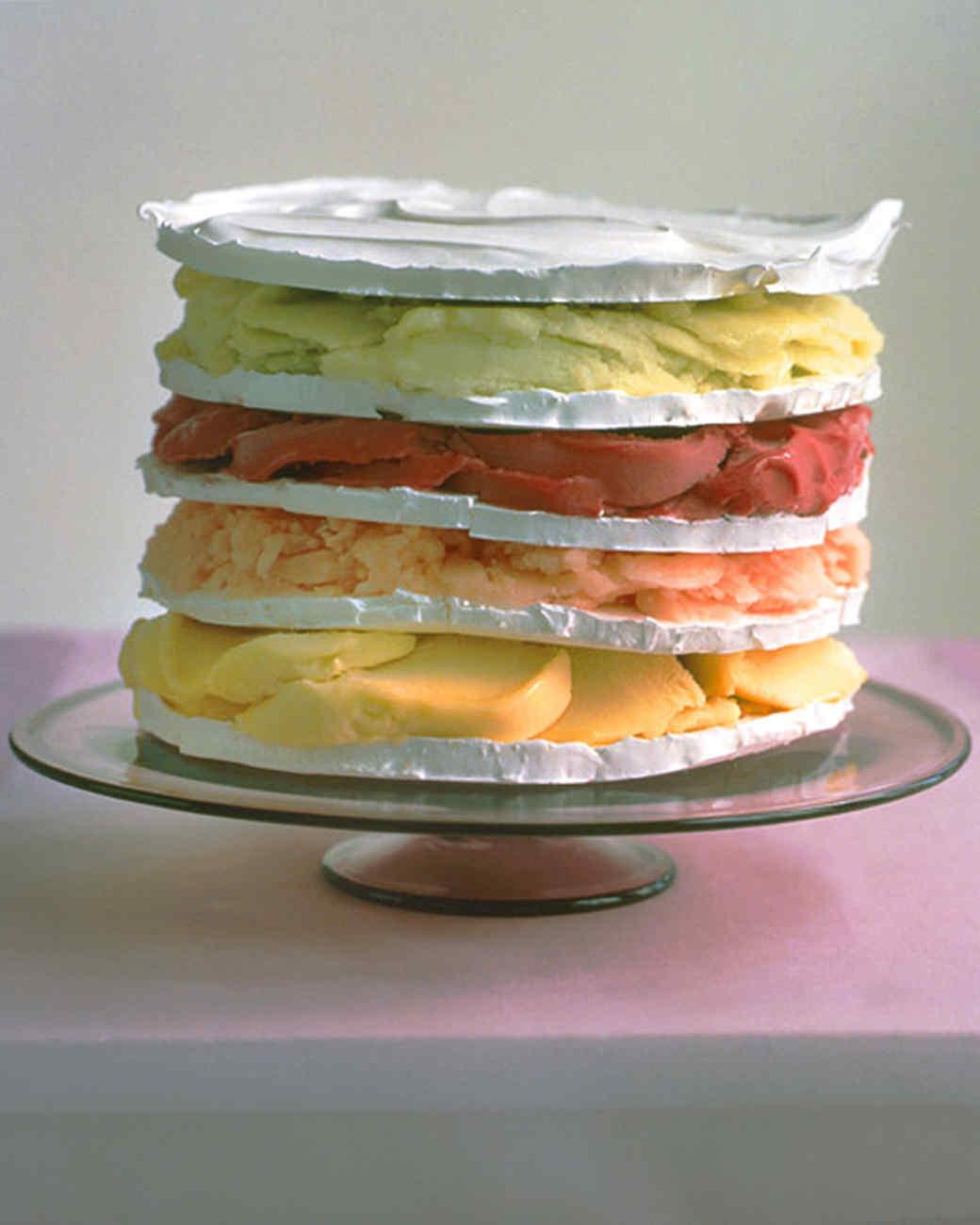 Rainbow Sorbet Cake