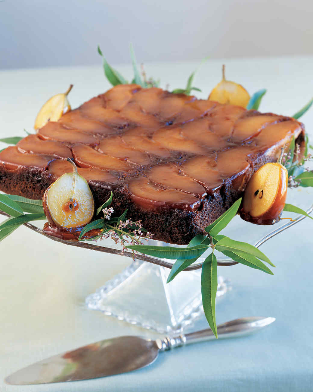Pear Upside-Down Gingerbread Cake