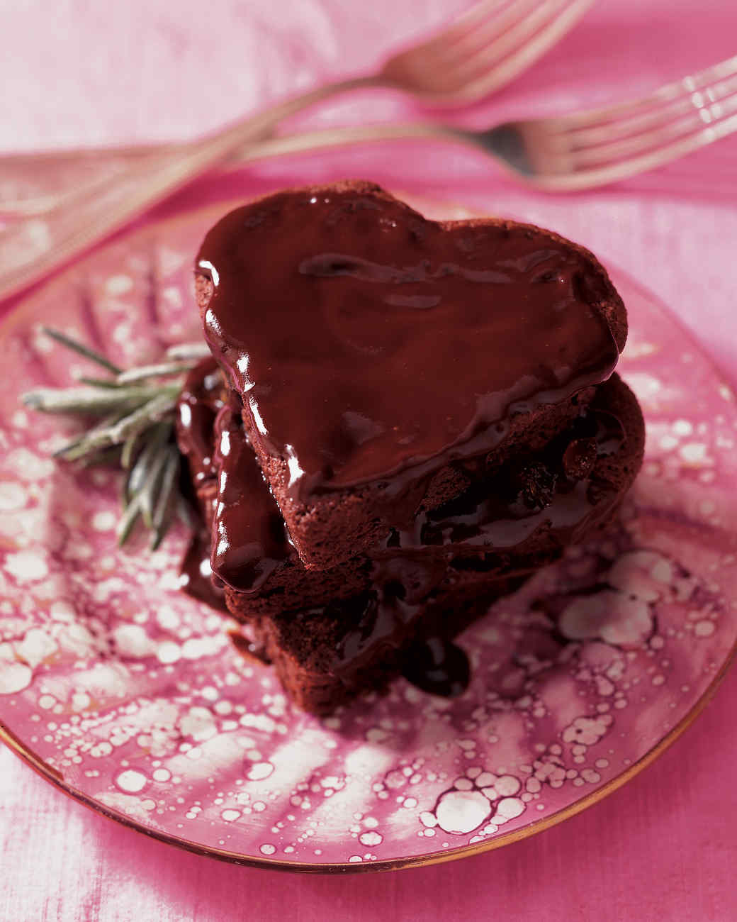 Rich Chocolate Heart Cakes