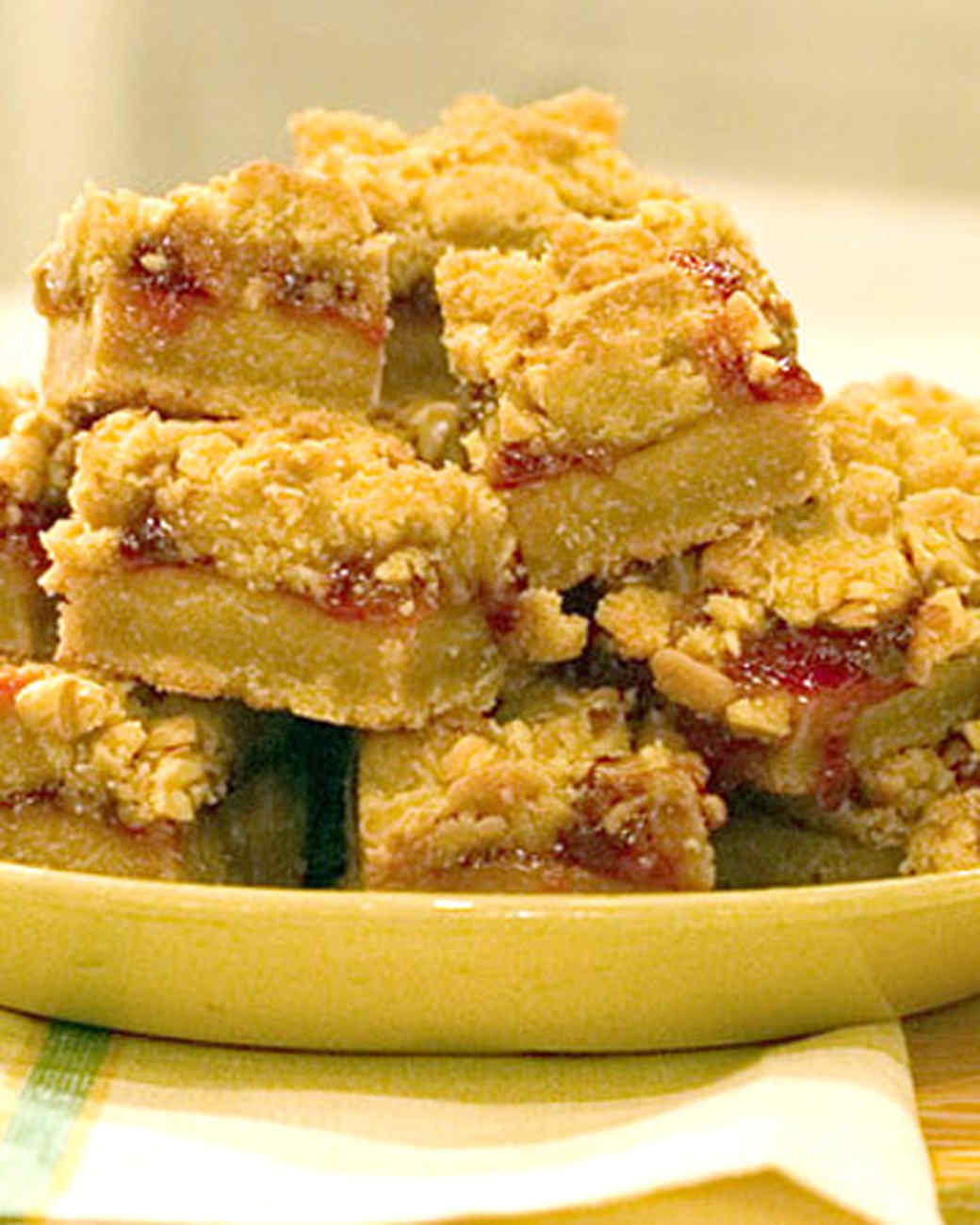 Peanut Butter and Jelly Bars Recipe | Martha Stewart