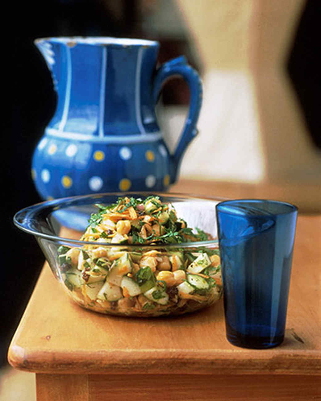 Chickpea and Cucumber Salad with Fresh Mint