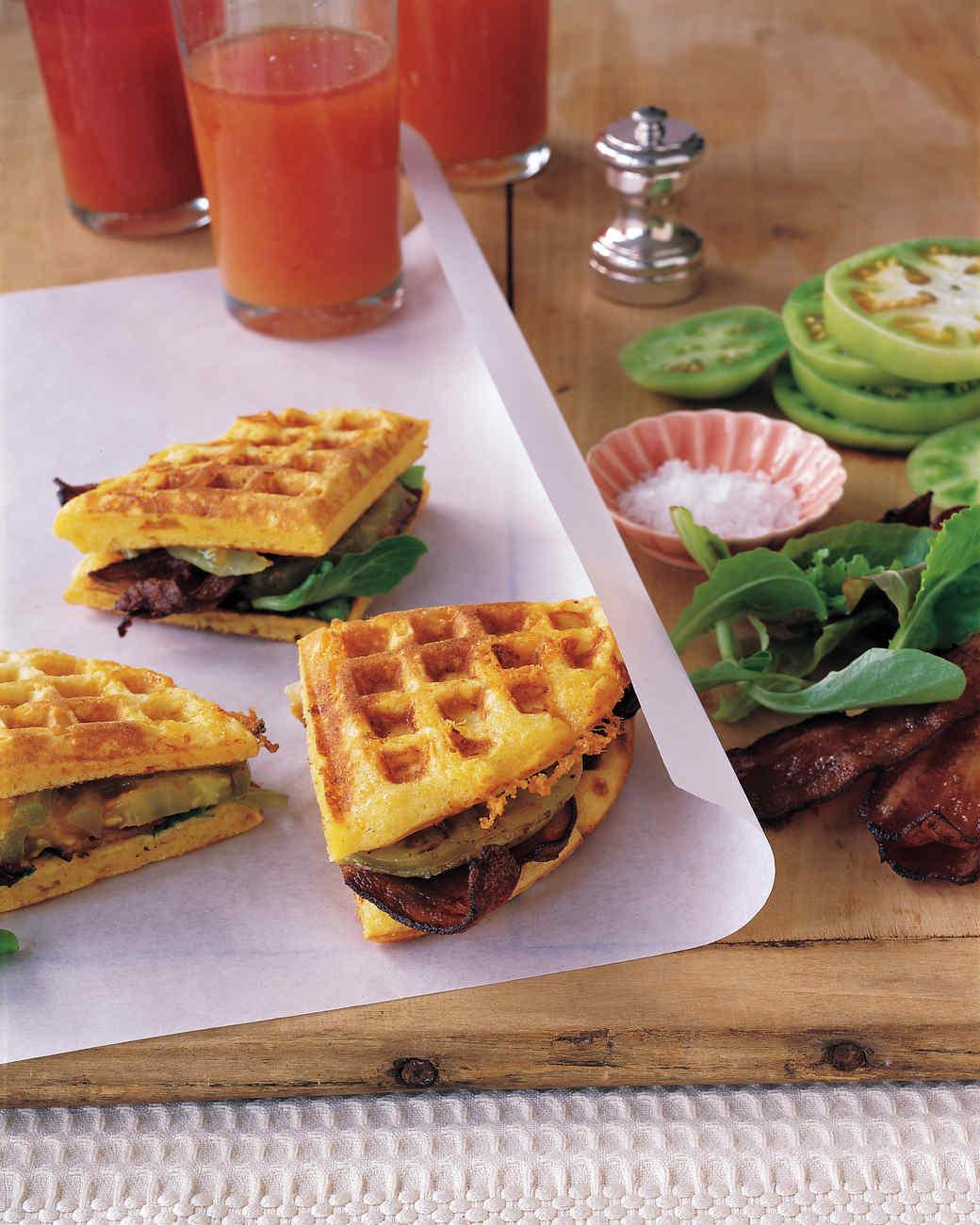 Cheddar-Cornmeal Waffle BLT